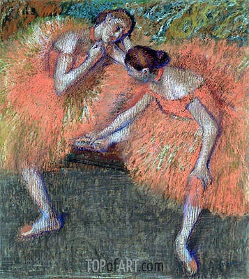 Two Dancers, c.1898 | Degas | Painting Reproduction