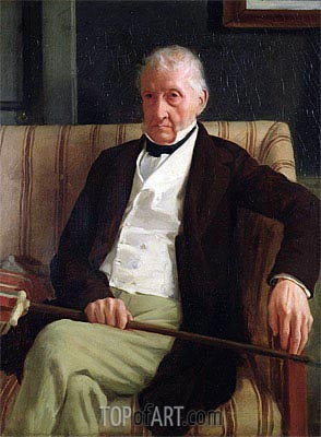 Portrait of Hilaire Degas, Grandfather of the Artist, 1857 | Degas | Painting Reproduction
