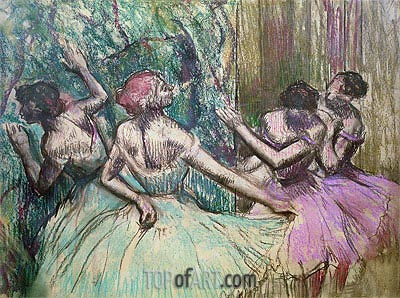 Dancers in the Wings, c.1899 | Degas | Painting Reproduction