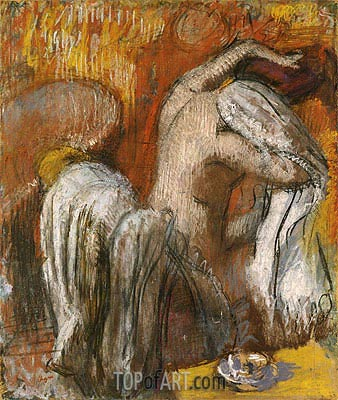 Woman Drying Herself, undated | Degas | Gemälde Reproduktion