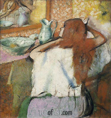 Woman at her Toilet, c.1895/00 | Degas | Gemälde Reproduktion