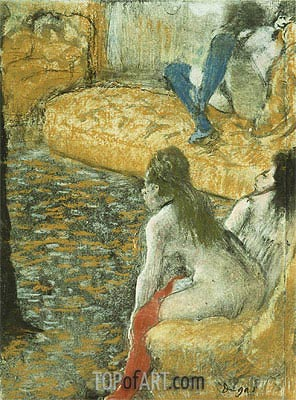 Waiting for a Client, undated | Degas | Painting Reproduction