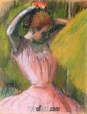 Dancer Arranging Her Hair, c.1900/12 | Degas | Painting Reproduction