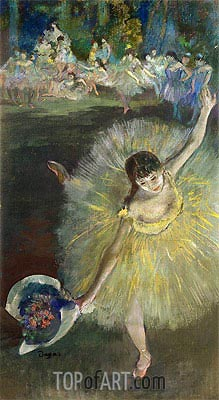 End of an Arabesque, c.1877 | Degas | Painting Reproduction
