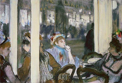 Women on a Cafe Terrace, 1877 | Degas | Painting Reproduction