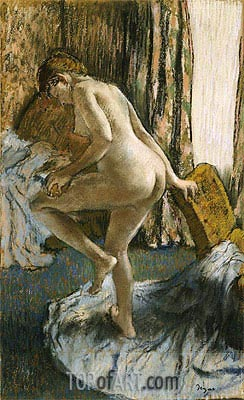 After the Bath, c.1883 | Degas | Painting Reproduction