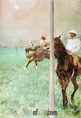 Jockeys Before the Race, c.1878/79 | Degas | Painting Reproduction