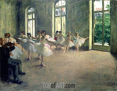 The Rehearsal, c.1873/78 | Degas | Painting Reproduction