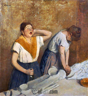The Laundresses (The Ironing), c.1874/76 | Degas | Gemälde Reproduktion