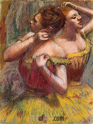 Two Dancers, c.1898/99 | Degas | Painting Reproduction