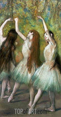 Green Dancers, 1878 | Degas | Painting Reproduction