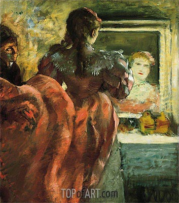 Actress in Her Dressing Room, c.1879 | Degas | Painting Reproduction