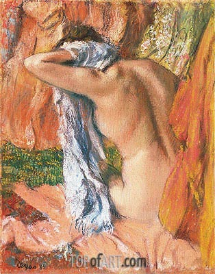 After the Bath, c.1890/93 | Degas | Painting Reproduction