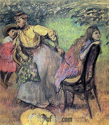 Madame Rouart with her Children, c.1905 | Degas | Painting Reproduction