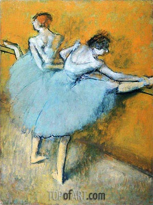 Dancers at the Barre, c.1900 | Degas | Painting Reproduction
