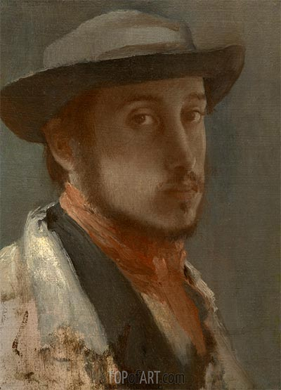 Self-Portrait, c.1857/58 | Degas | Painting Reproduction