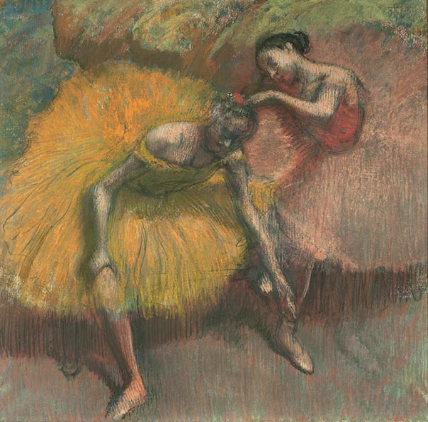 Two Dancers Yellow and Pink, 1898 | Degas | Painting Reproduction