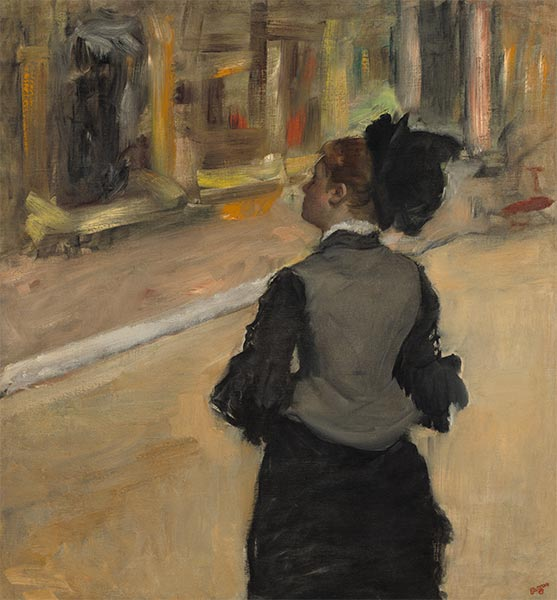 Woman Viewed from Behind (Visit to a Museum), c.1879/85 | Degas | Painting Reproduction