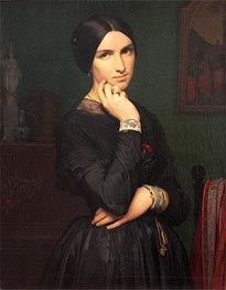 Madame Hippolyte Flandrin, 1846 by Hippolyte Flandrin | Painting Reproduction