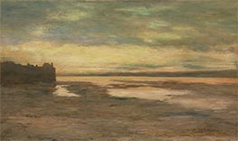 Evening on the Thames, c.1876 by Homer Dodge Martin | Painting Reproduction
