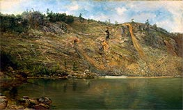 The Iron Mine, Port Henry, New York, c.1862 by Homer Dodge Martin | Painting Reproduction