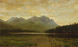 Upper Ausable Lake, 1868 by Homer Dodge Martin | Painting Reproduction