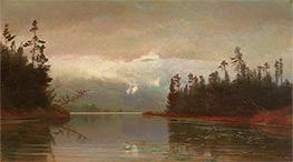 A North Woods Lake, 1867 by Homer Dodge Martin | Painting Reproduction