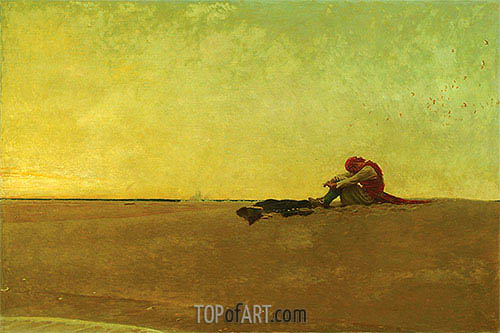 Marooned, 1909 | Howard Pyle | Painting Reproduction