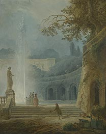 The Fountain, c.1775/78 by Hubert Robert | Painting Reproduction