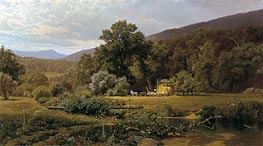 Summer in the Blue Ridge, 1874 von Hugh Bolton Jones | Gemälde-Reproduktion