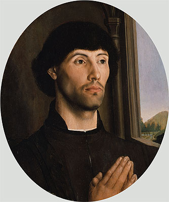 Portrait of a Man, c.1475 | Hugo van der Goes | Painting Reproduction