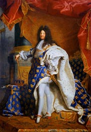 Portrait of Louis XIV of France, c.1701/02 by Hyacinthe Rigaud | Painting Reproduction