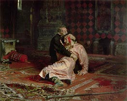 Ivan the Terrible and his Son on the 16th November, 1581, 1885 von Repin | Gemälde-Reproduktion