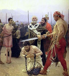 Saint Nicholas Delivers Three Unjustly Condemned Men from Death, 1888 von Repin | Gemälde-Reproduktion