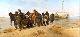 Barge Haulers on the Volga, c.1870/73 by Repin | Painting Reproduction