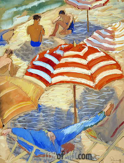 On the Beach, undated | Isaac Grünewald | Painting Reproduction