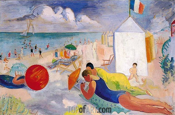 The Beach, undated | Isaac Grünewald | Painting Reproduction