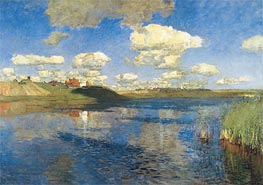 The Lake. Russia, 1895 by Isaac Levitan | Painting Reproduction