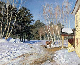 March | Isaac Levitan | Painting Reproduction