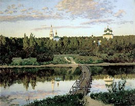 The Quiet Abode, 1890 von Isaac Levitan | Gemälde-Reproduktion