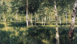 Birch Grove, 1889 by Isaac Levitan | Painting Reproduction