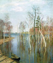 Spring, High Water | Isaac Levitan | Painting Reproduction