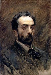 Self Portrait, c.1880/90 by Isaac Levitan | Painting Reproduction