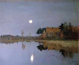The Twilight Moon, 1899 von Isaac Levitan | Gemälde-Reproduktion