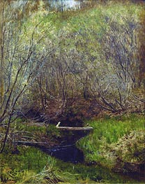 Spring in the Forest, 1882 by Isaac Levitan | Painting Reproduction