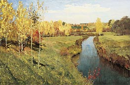 Golden Autumn, 1895 by Isaac Levitan | Painting Reproduction