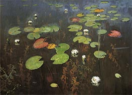 Water Lilies, 1895 by Isaac Levitan | Painting Reproduction