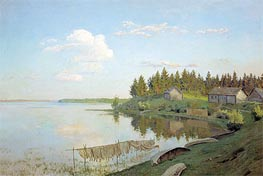 On Lake (The Tver Province), 1893 von Isaac Levitan | Gemälde-Reproduktion