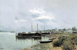 After Rain in Ples | Isaac Levitan | Painting Reproduction