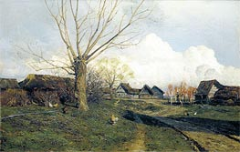 Savvinskaya Sloboda near Zvenigorod, 1884 by Isaac Levitan | Painting Reproduction